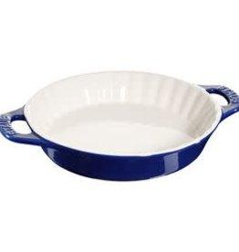 """Staub 28cm /11"""" Ceramic Round Pie Dish - Blue"""