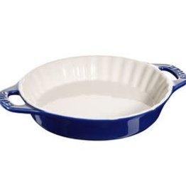 """Staub 24cm /9.4"""" Ceramic Round Pie Dish - Blue"""