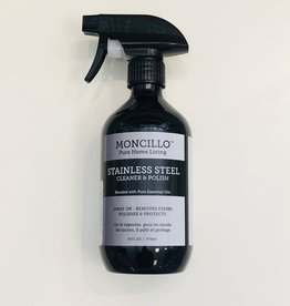 Moncillo Pure Home Living Stainless Steel Cleaner & Polish Spray - 473ml