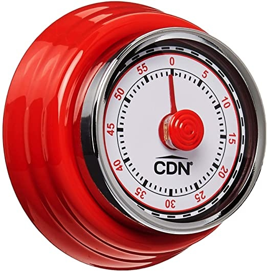 Compact Mechanical Timer – Red