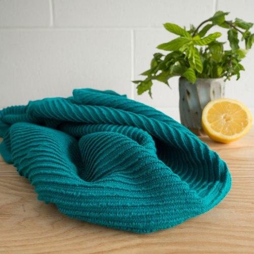 Now Designs Ripple Dish Towel - Peacock