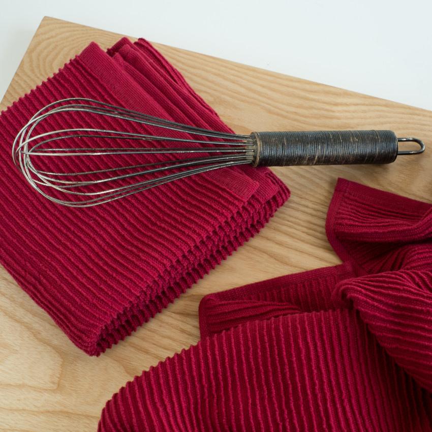 Now Designs Ripple Dish Towel - Carmine