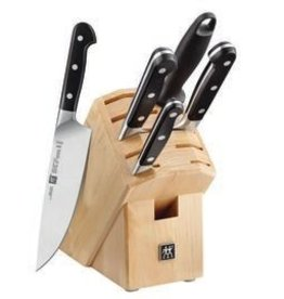 Zwilling J.A. Henckels Pro Knife Block Set 6pc wb/ 8 Steak Knives