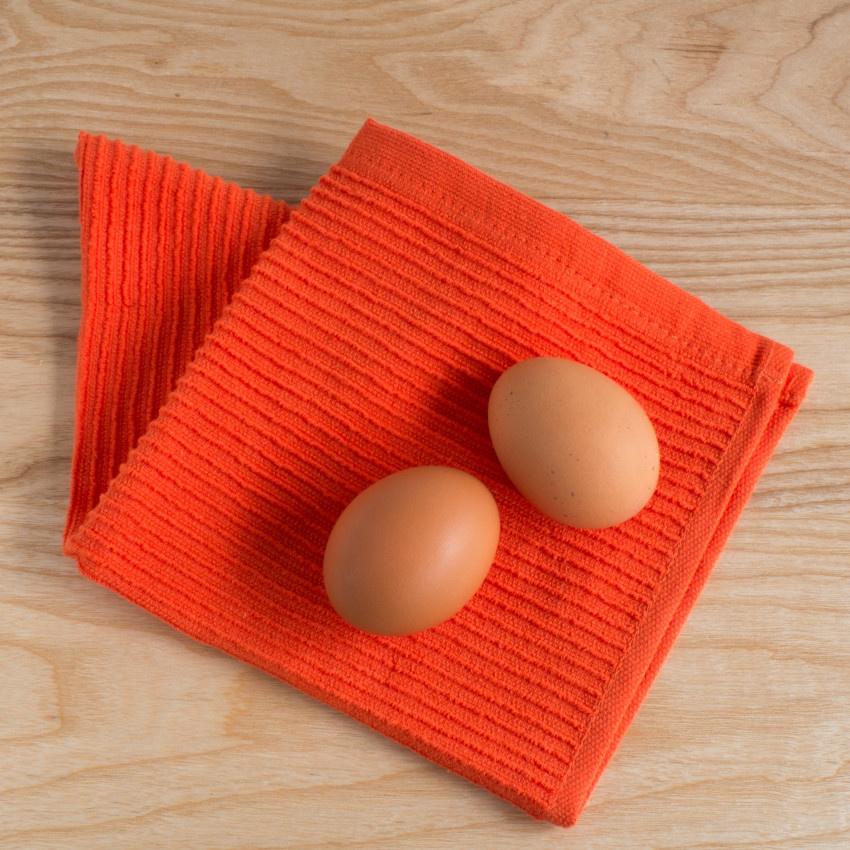 Now Designs Ripple Dishcloths - Tangerine S/2