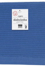 Now Designs Ripple Dishcloths - Royal S/2