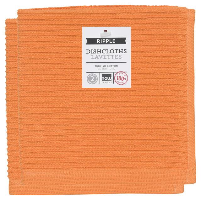 Now Designs Ripple Dishcloths - Kumquat S/2