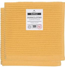 Now Designs Ripple Dishcloths - Honey S/2