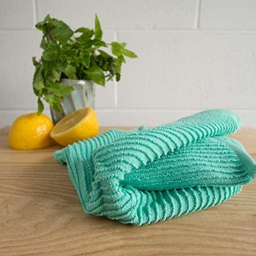 Now Designs Ripple Dishcloths - Lucite Green S/2