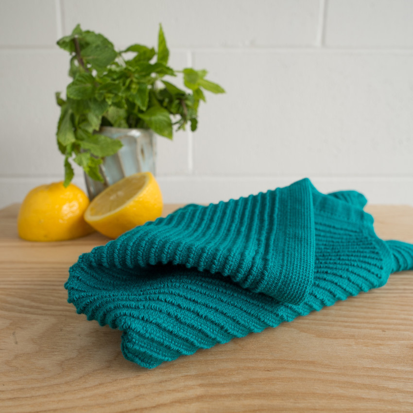 Now Designs Ripple Dishcloths- Peacock S/2