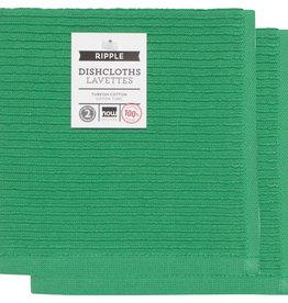 Now Designs Ripple Dishcloths - Greenbriar S/2