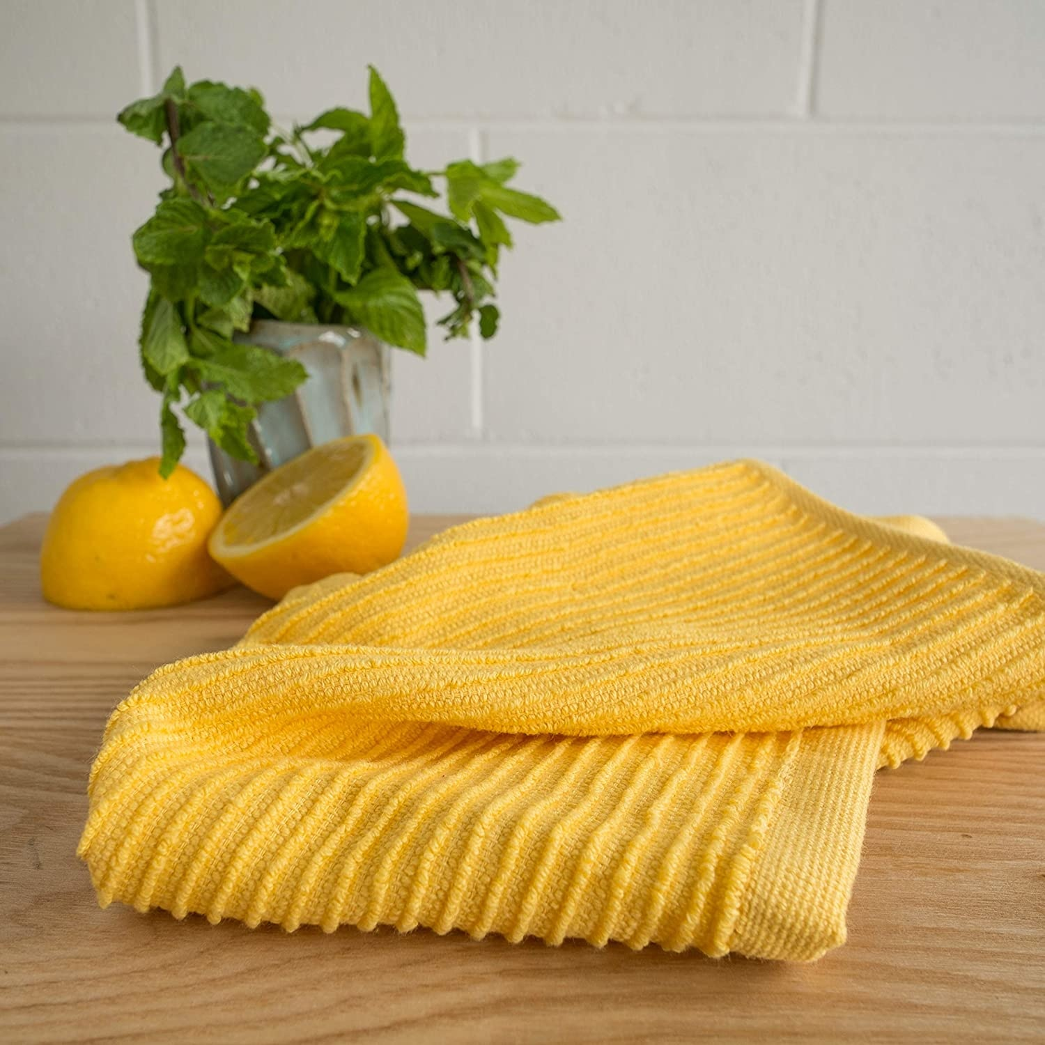 Now Designs Ripple Dishcloths - Lemon S/2