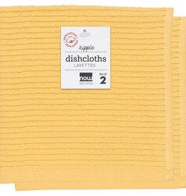Now Designs Ripple Dishcloths - Lemon S/2
