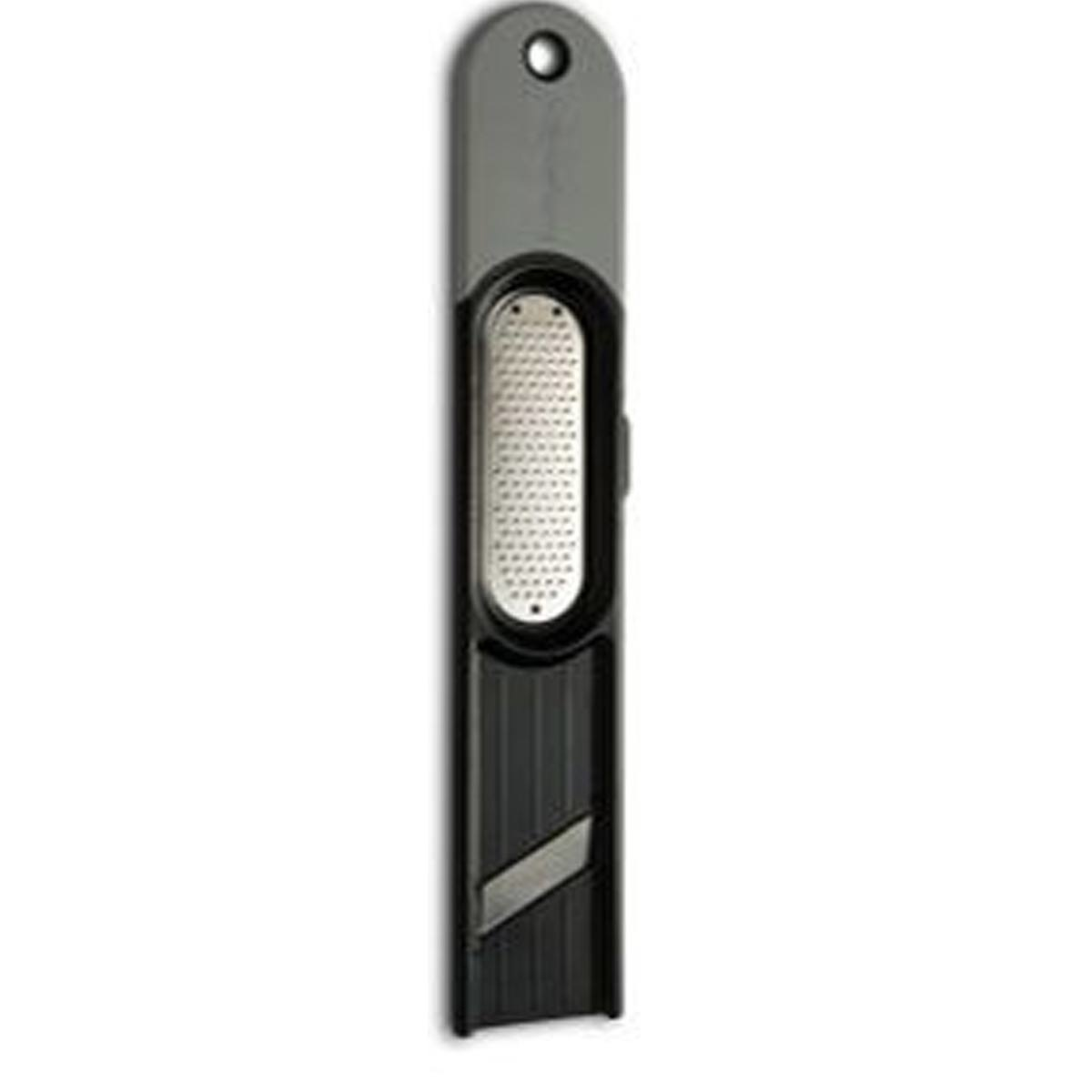 Microplane 3-IN-1 Ginger Grater Tool - Black & Grey