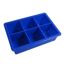 6 Hole Jumbo Ice Cube Tray - Blue