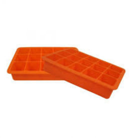 Silicone Ice Tray S/2 - Orange