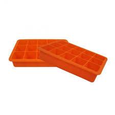 Silicone Ice Tray S/2 - Orange