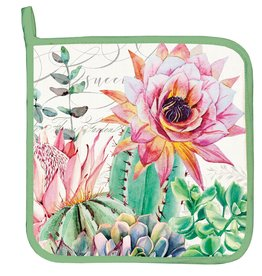 Pink Cactus Potholder