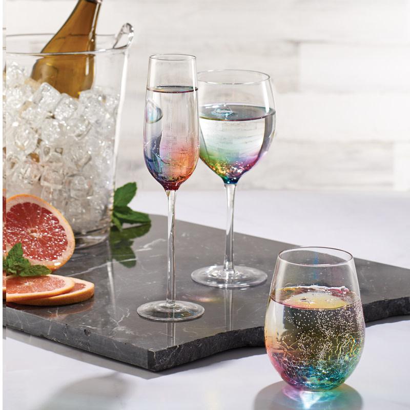 Crackle Wine Glass 15oz