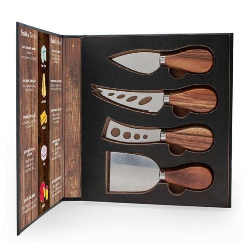 Danesco Cheese Knives Set/4 - Acacia Wood