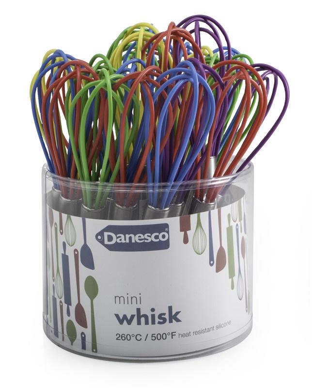 Danesco Mini Whisk - Single - Assorted Colours