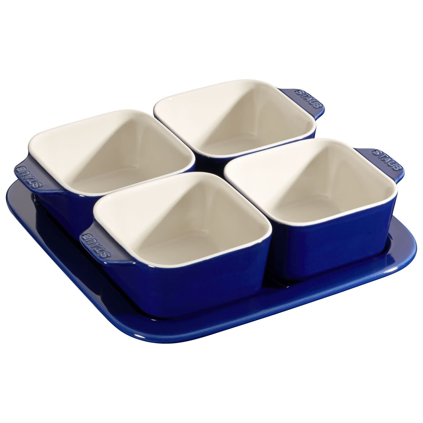 "Staub Appetizer Set - Blue 7.5"" x 7.5"" / 19cm x 19cm"