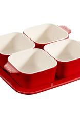 """Staub Appetizer Set Cherry 7.5"""" x 7.5"""" / 19cm x 19cm"""