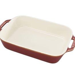 """Staub Rect Baking Dish - Rustic Red 27x20cm/ 10.5""""x7.5"""" - 2.4L/2.5qt"""