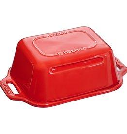 Staub Butter Dish Cherry Red 18.5x12cm