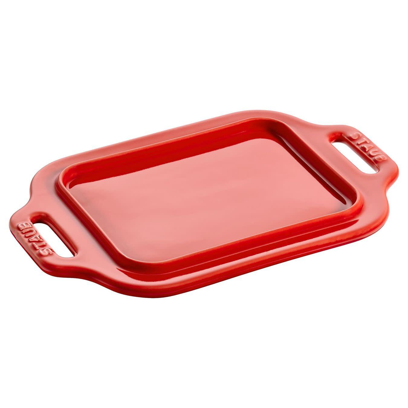 Staub Butter Dish Cherry Red
