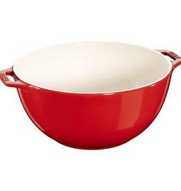 "Staub Serving Bowl Large Cherry 25cm/9.8"""