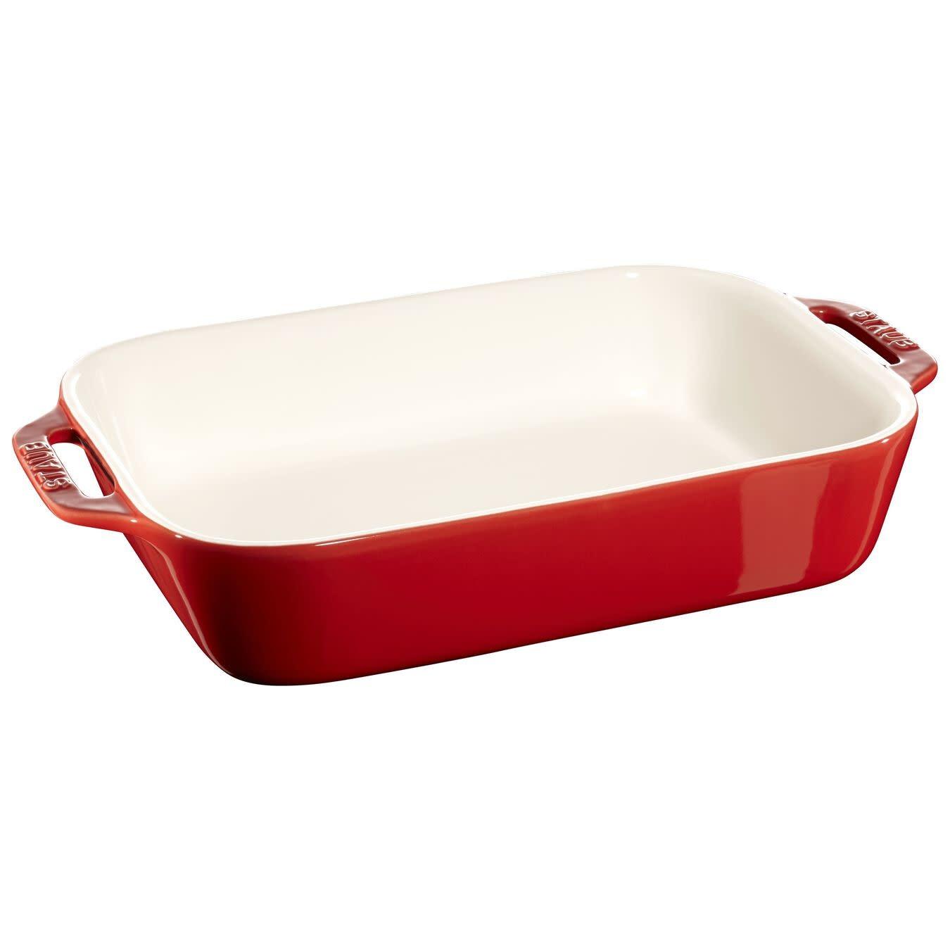 "Staub Rectangular Baking Dish Red 27x20cm/10.5""x7.5"""