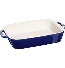 "Staub Rectangular Baking Dish Blue 27x20cm/10.5""x7.5"""