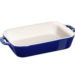 "Staub Rect Baking Dish 20x16cm / 7.5""x6"" Blue"