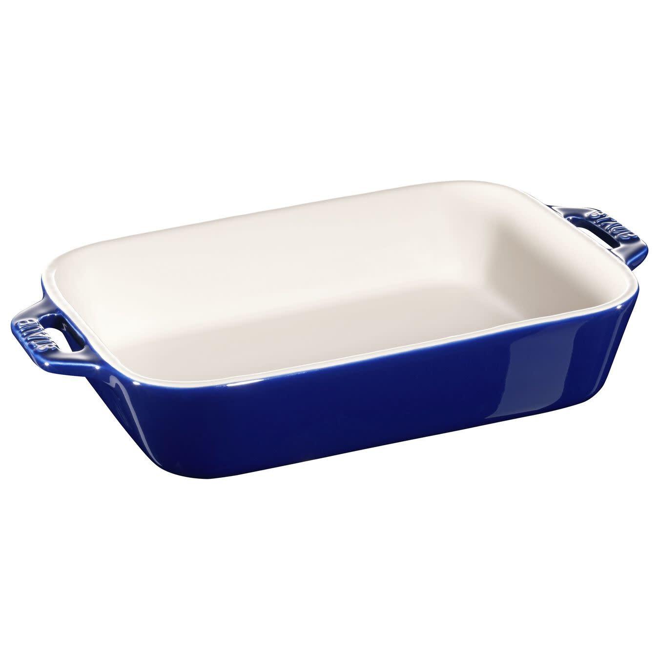 "Staub Rectangular Baking Dish Blue 20x16cm/7.5""x6"""