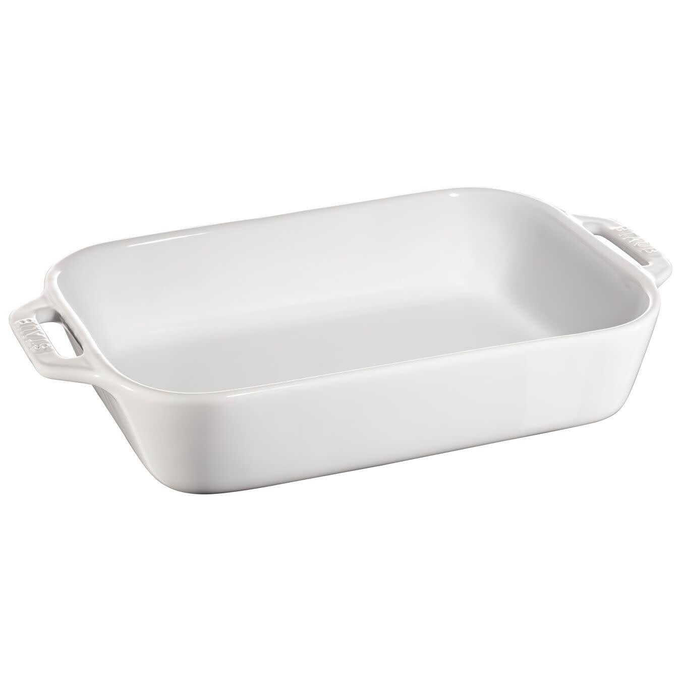 "Staub Rect Baking Dish  27x20cm / 10.5""x7.5"" White"