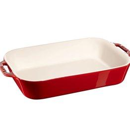 "Staub Rect Baking Dish 34x24cm / 13""x9"" Cherry"