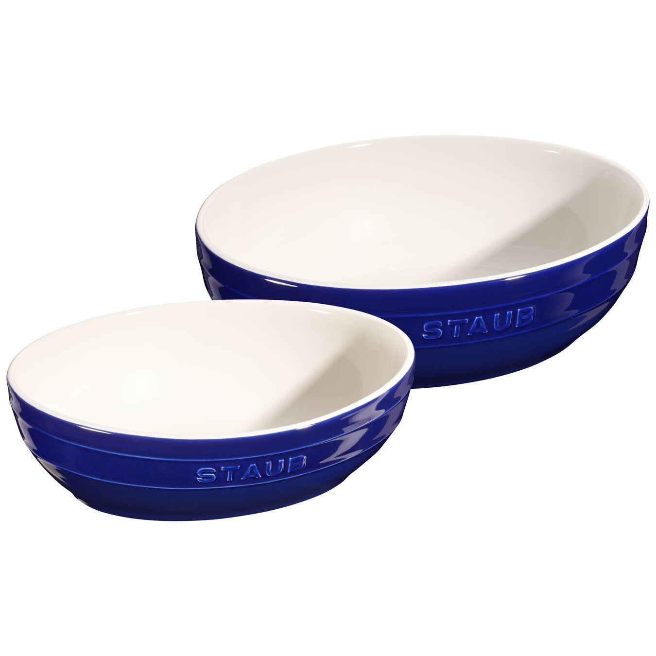 Staub Oval Multi Bowl Blue 2pc Set