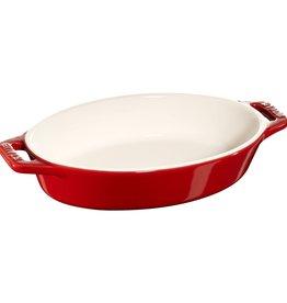 "Staub Oval Baking Dish Cherry 17x12.5cm / 6.5""x4.5"""