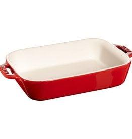 "Staub Rect Baking Dish 20x16cm / 7.5""x6"" Cherry Red"