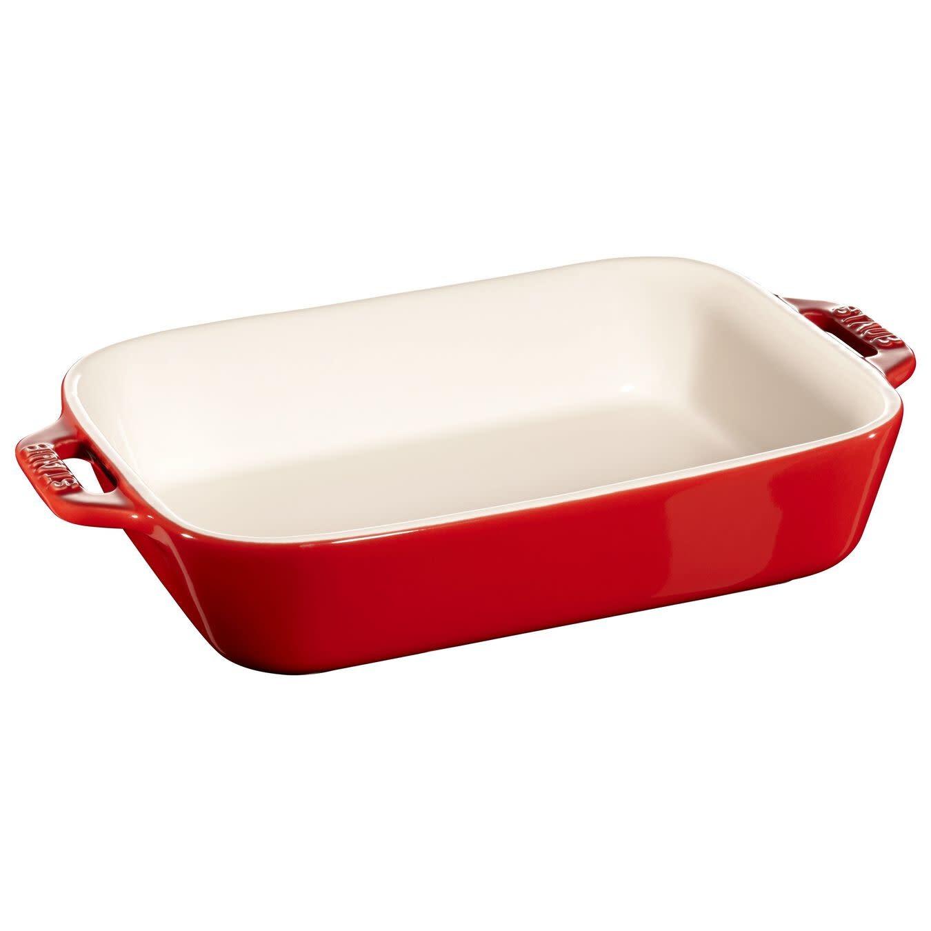 "Staub Rectangular Baking Dish Red 20x16cm/7.5""x6"""