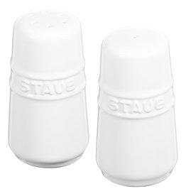 """Staub Salt & Pepper Shakers 7cm / 2.8"""" White"""