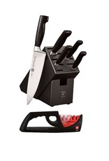 Zwilling J.A. Henckels Four Star Knife Block Set 6pc w/4 Stage Sharpener
