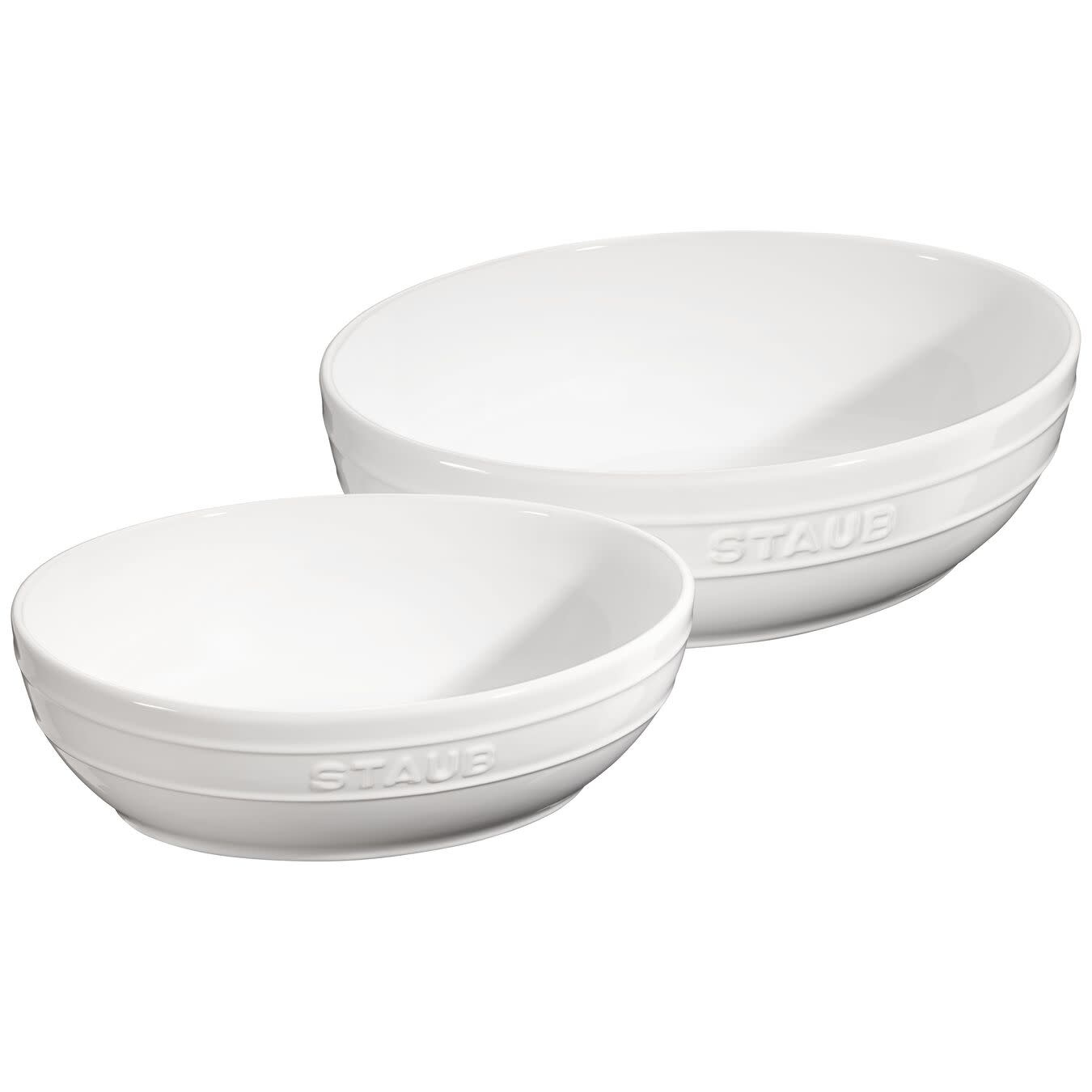 Staub Oval Multi Bowl White 2pc Set
