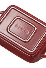 Staub Rectangular Dish Set 2pc  Ancient Red