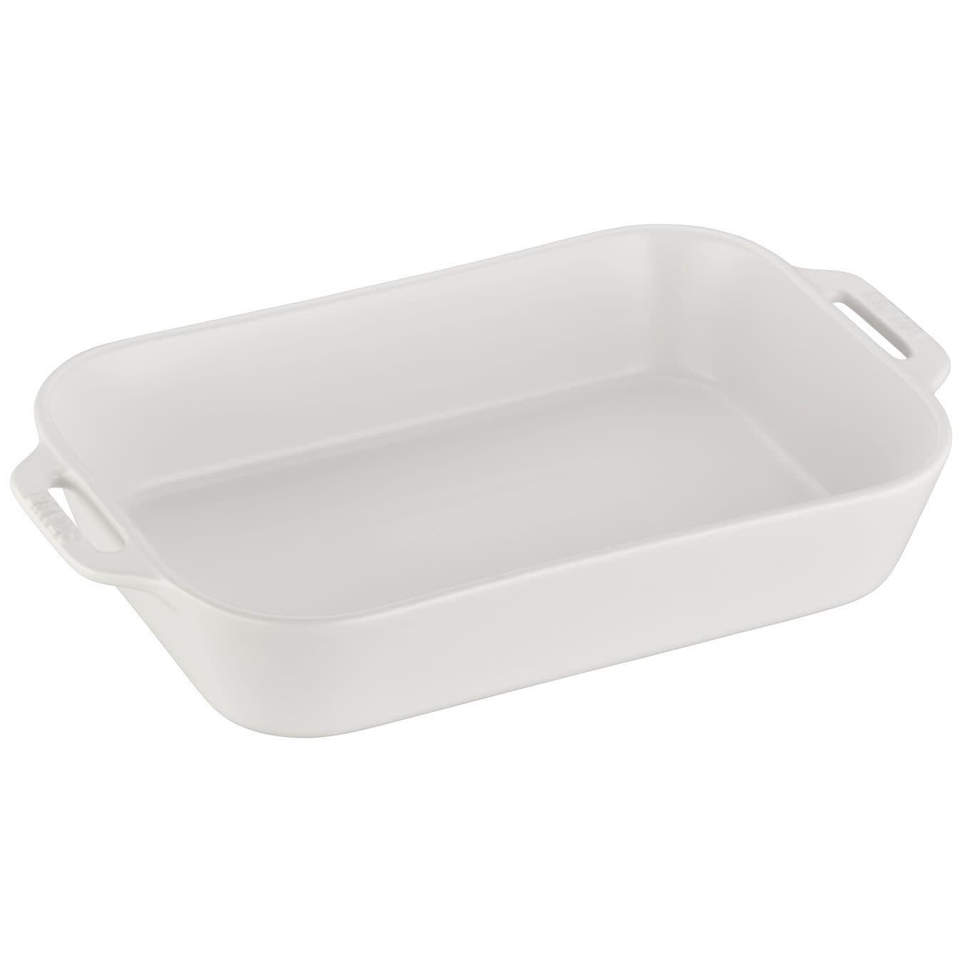 """Staub Rectangular Baking Dish White 34x24cm / 13""""x9"""""""