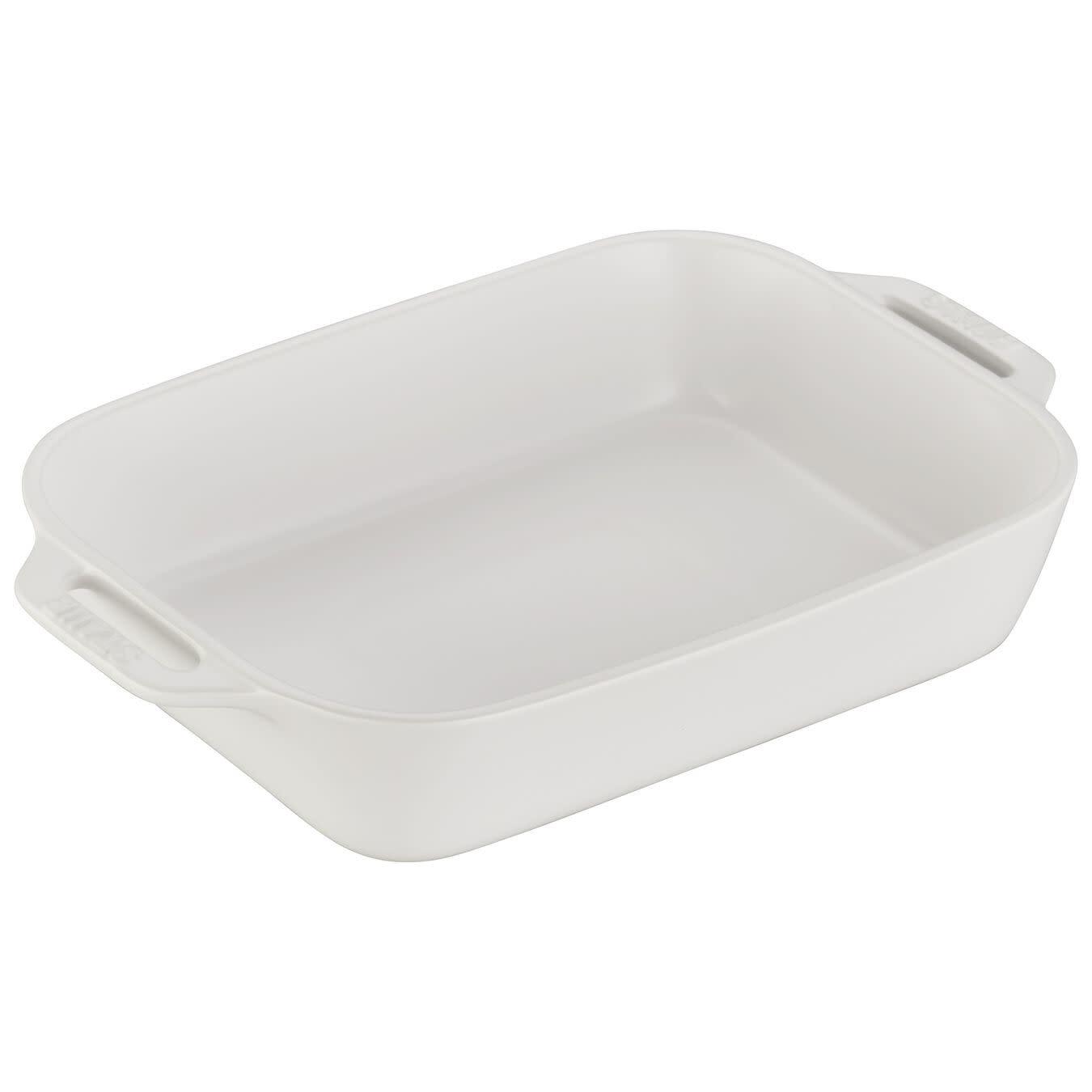 "Staub Rectangular Baking Dish Matte White 27x20cm/10.5""x7.5"""