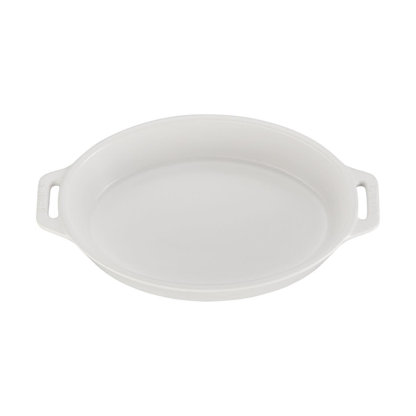 "Staub Oval Baking Dish Matte White 15x23cm /9""x6"""