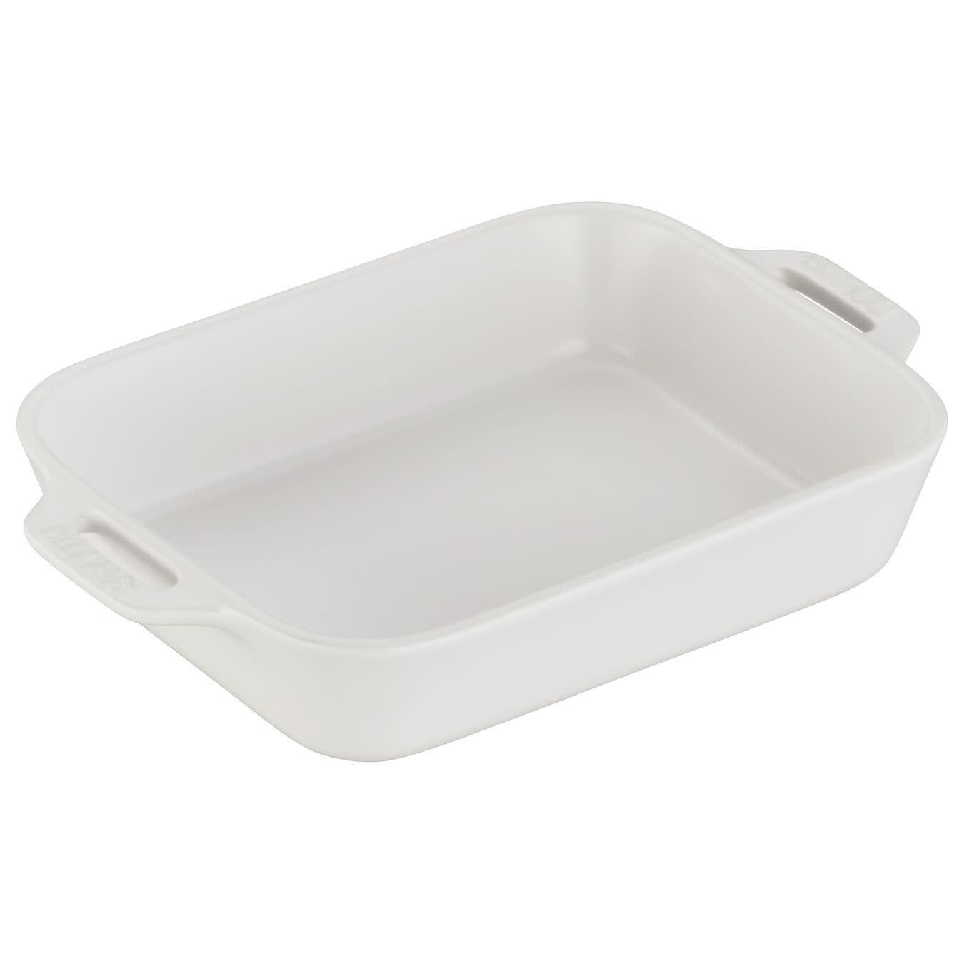 "Staub Rectangular Baking Dish Matte White 20x16cm /7.5""x6"""