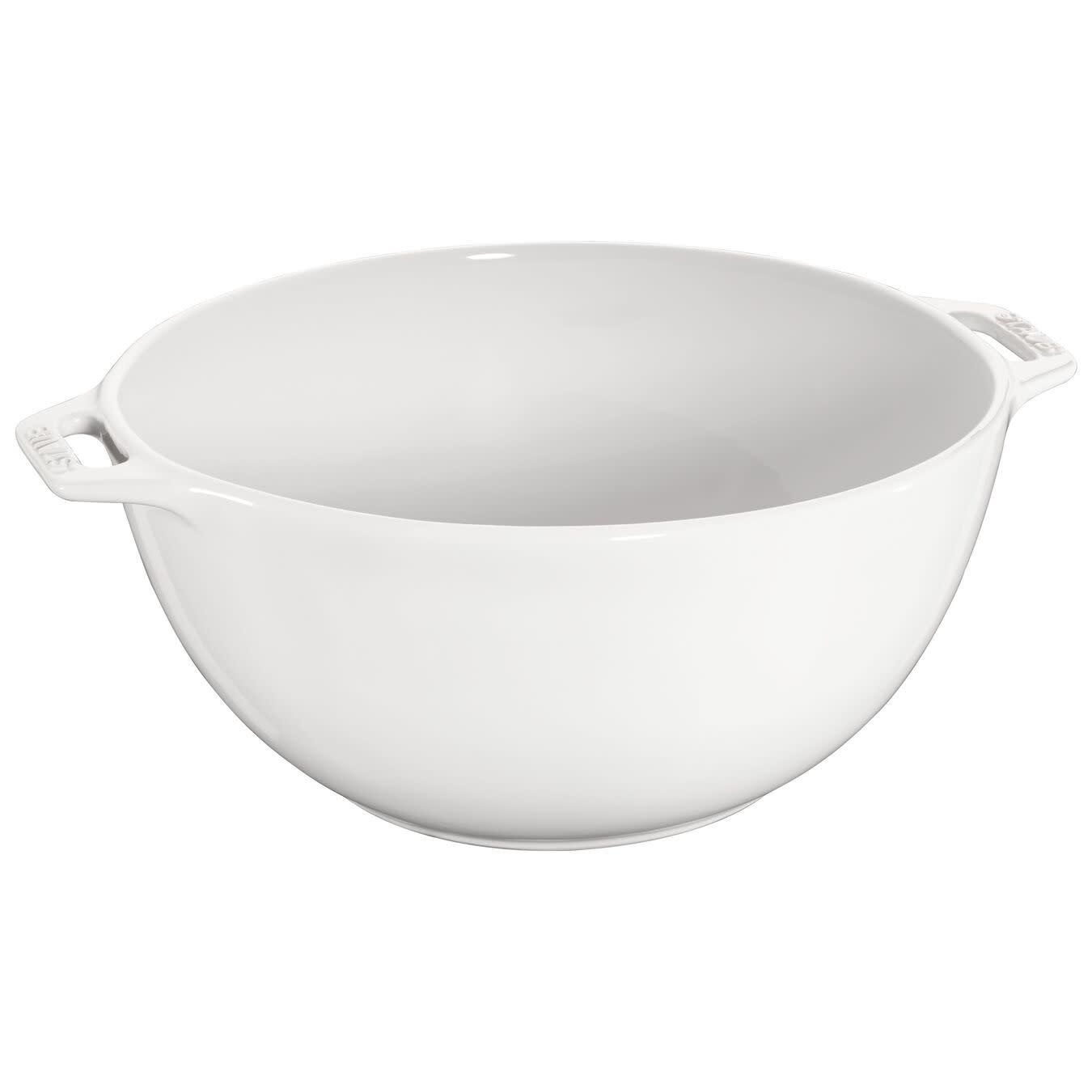"Staub Serving Bowl Large White 25cm/9.8"""