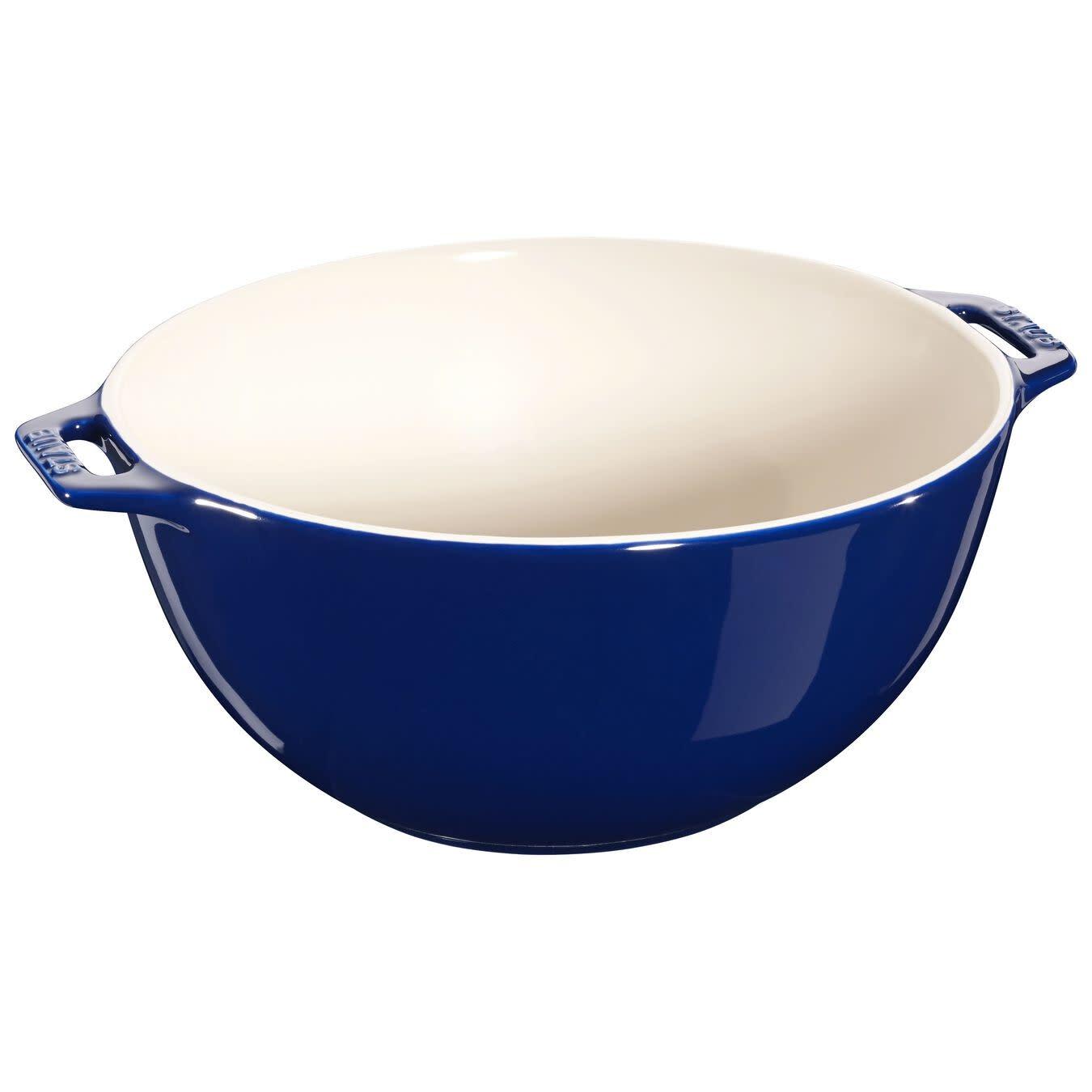 "Staub Serving Bowl Large Blue  25cm/9.8"""